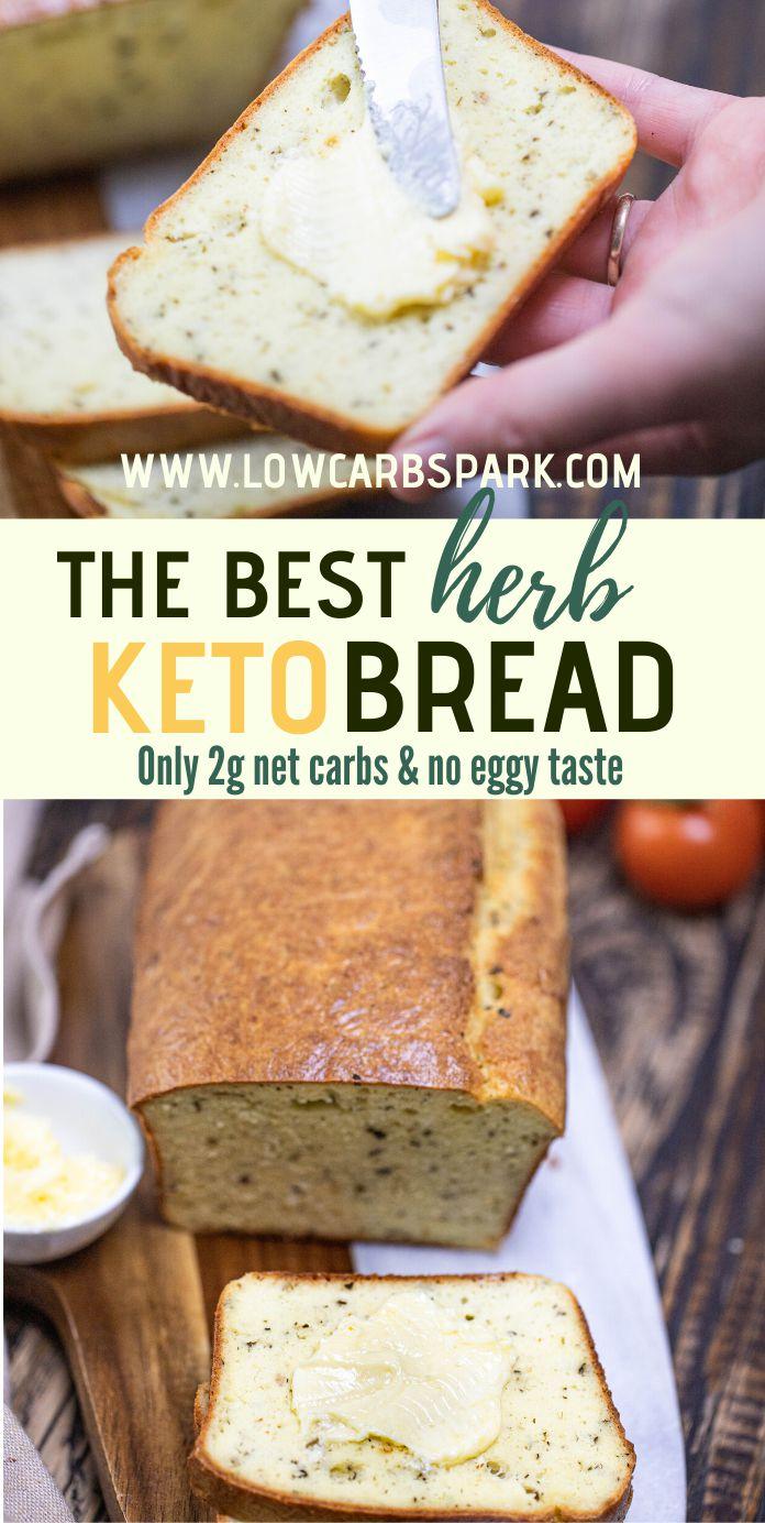 Italian Herb Keto Bread – 2g Net Carbs