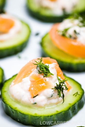Cucumber Smoked Salmon Appetizer with Dill Cream Cheese
