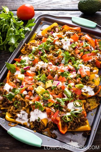 Low Carb Nachos with Mini Peppers – 6g Carbs