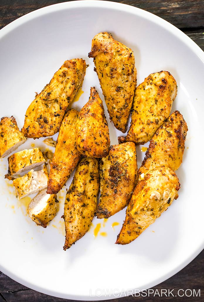 Juicy Air Fryer Naked Chicken Tenders Low Carb Spark