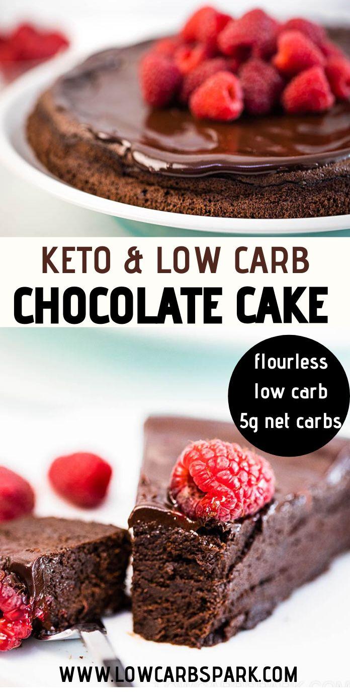 Keto Flourless Chocolate Cake Recipe