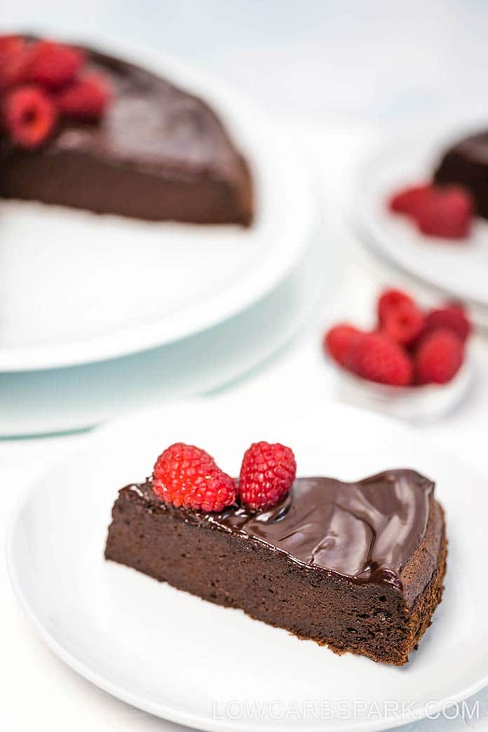 This sugar-free flourless cake is insanely delicious and perfect for that chocolate fix. I promise this keto gluten-free flourless cake recipe will become your favorite.