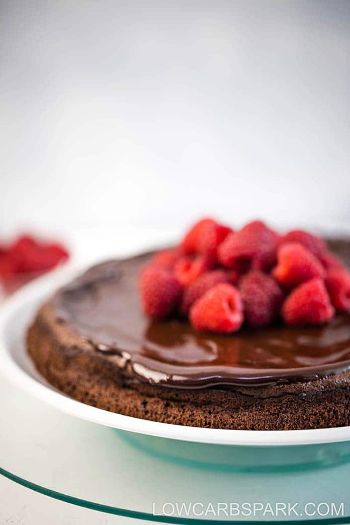 This delicious gluten-free flourless chocolate cake recipe is naturally keto and sugar-free. Make it for any special occasion when you want a sugar-free fudgy flourless cake.