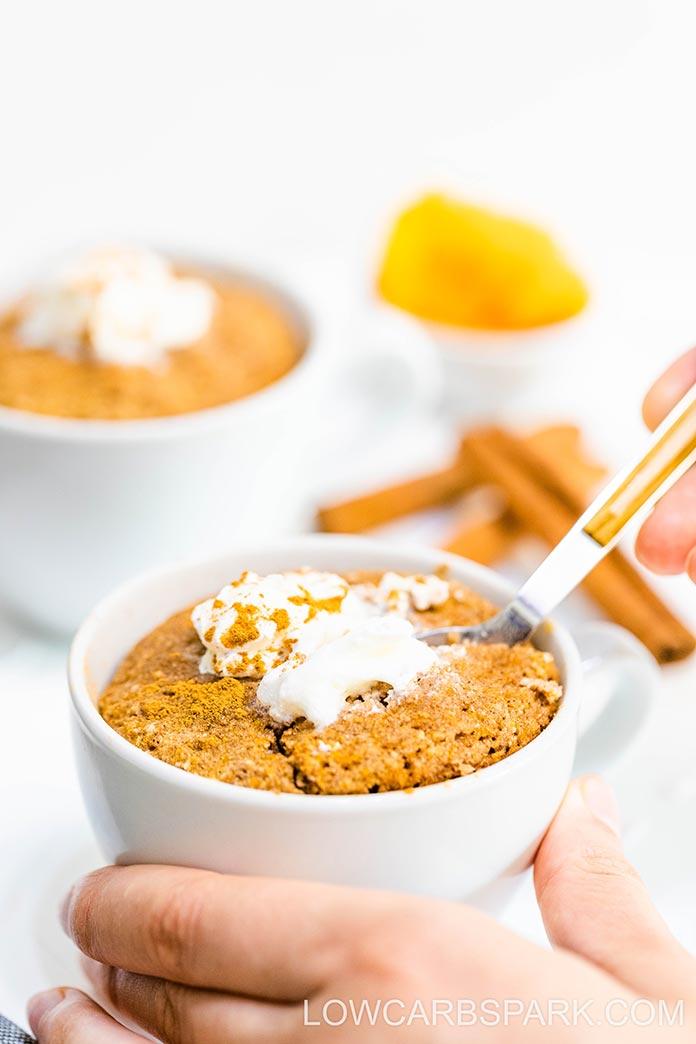 how to make keto pumpkin bread in a mug