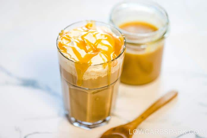 how to serve keto caramel sauce
