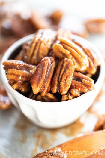 The Easiest Keto Candied Pecans