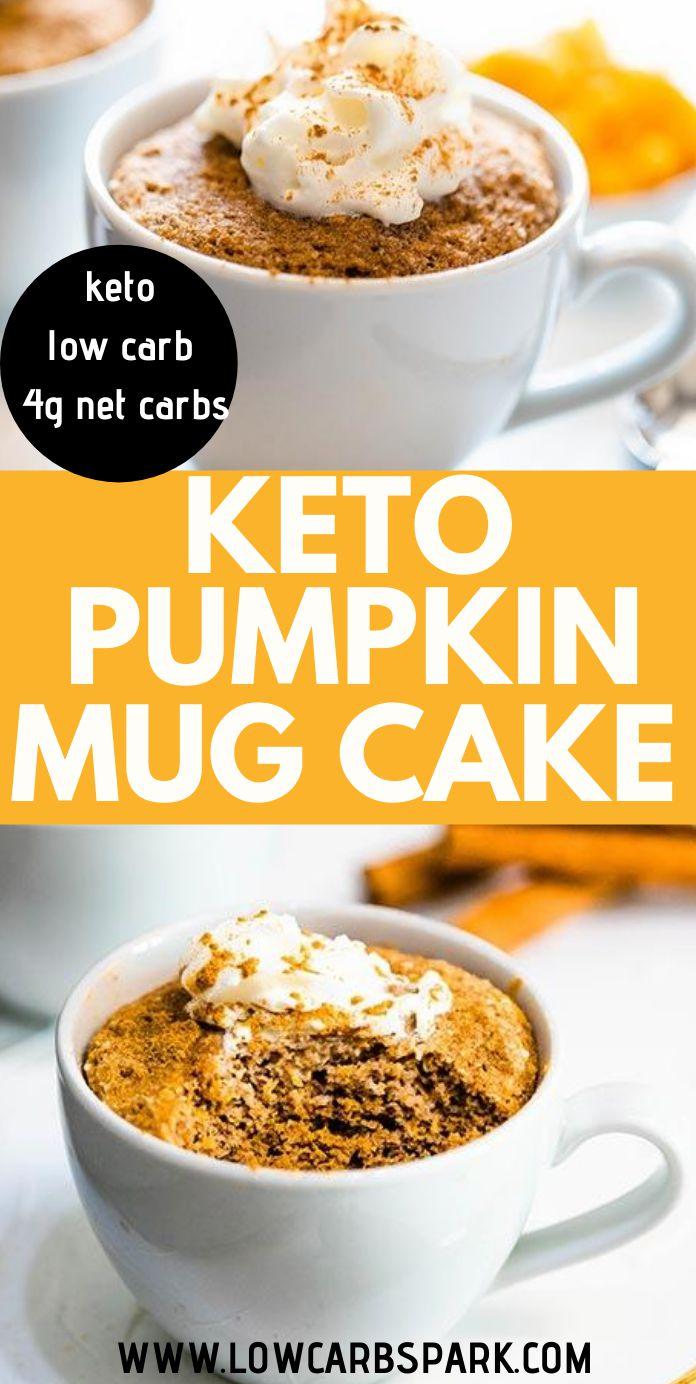 Keto Pumpkin Mug Cake - Ready in 3 minutes!