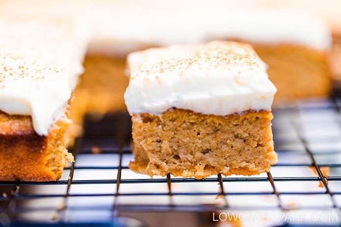tasty pumpkin dessert recipe with cream cheese frosting sugar free