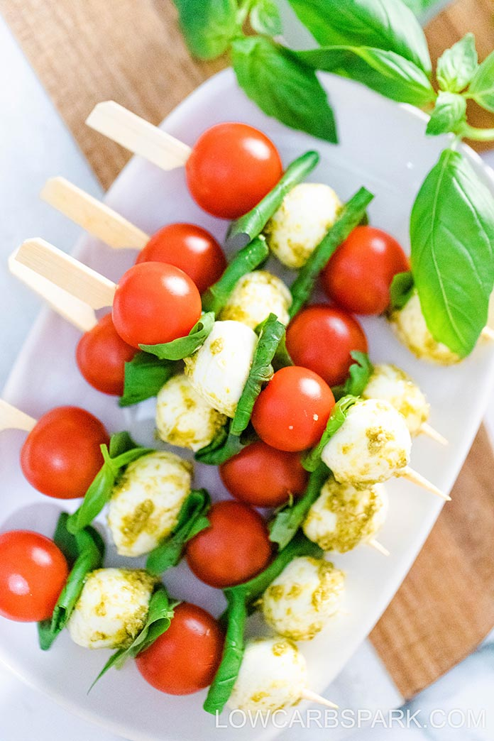 best appetizer with pesto basil and mozzarella