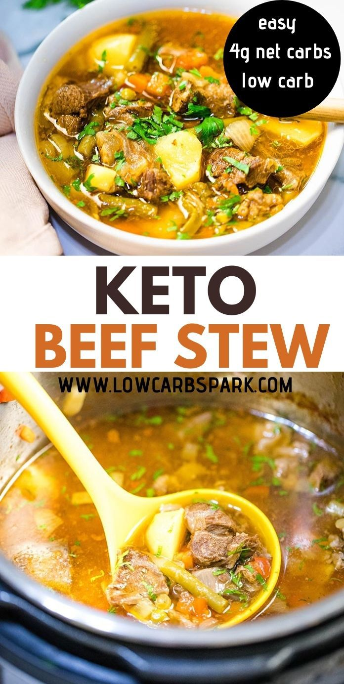 Keto Beef Stew {Instant Pot, Crock-Pot, On the Stove}