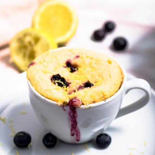 Quick Keto Lemon Blueberry Mug Cake - Low Carb 5 Minute ...