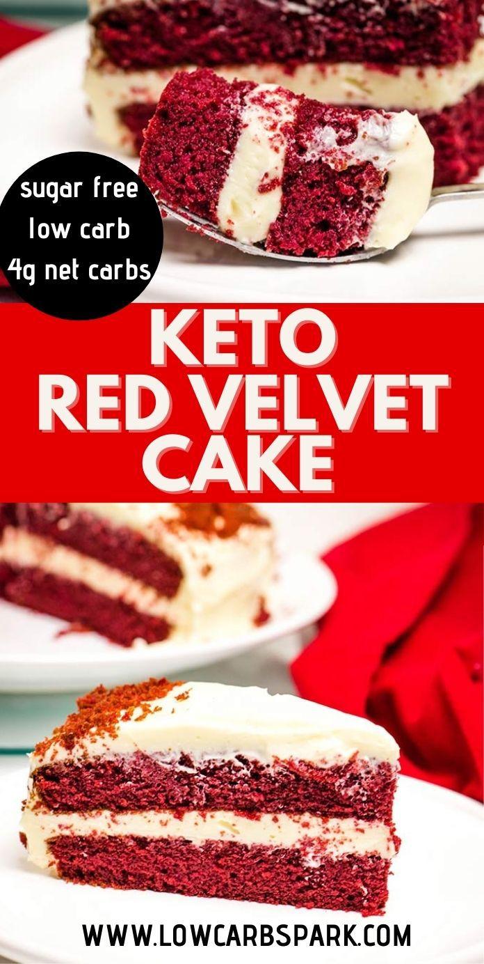 The Best Keto Red Velvet Cake - Only 4g carbs!