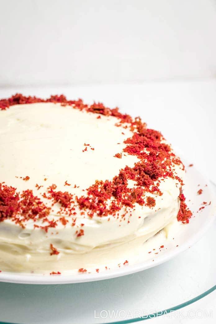 the best easy keto low carb red velvet cake