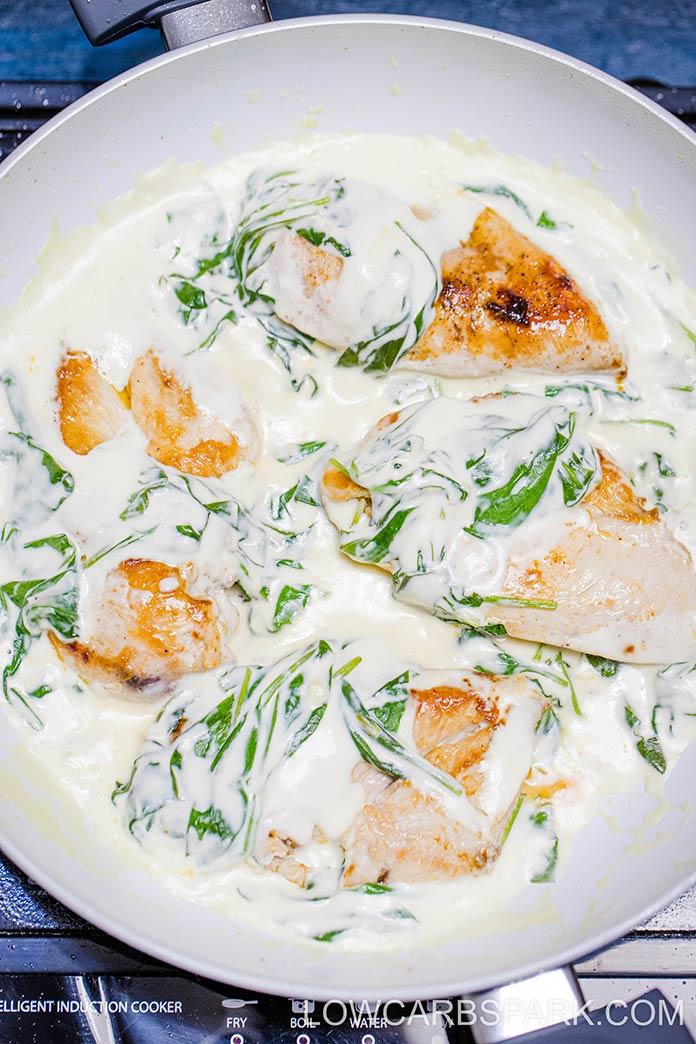 keto chicken florentine creamy chicken recipe