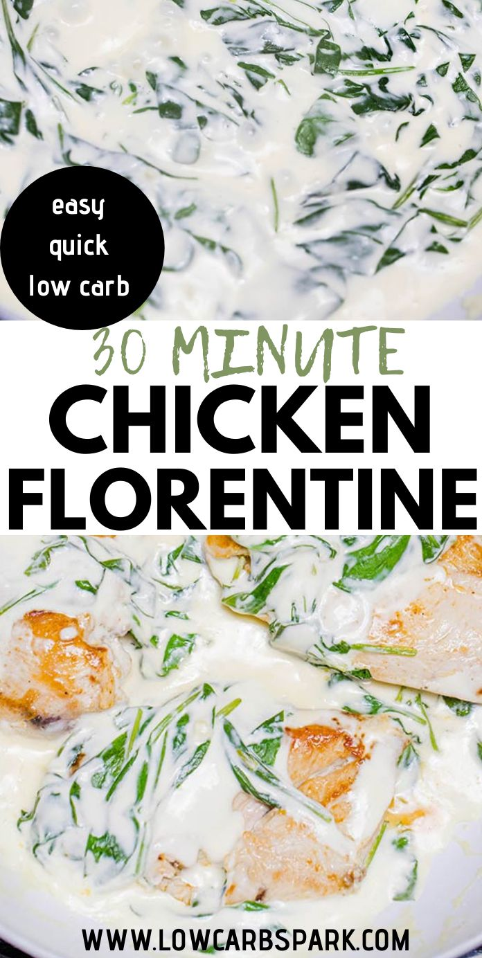 Easy Creamy Chicken Florentine {Low Carb, Keto}