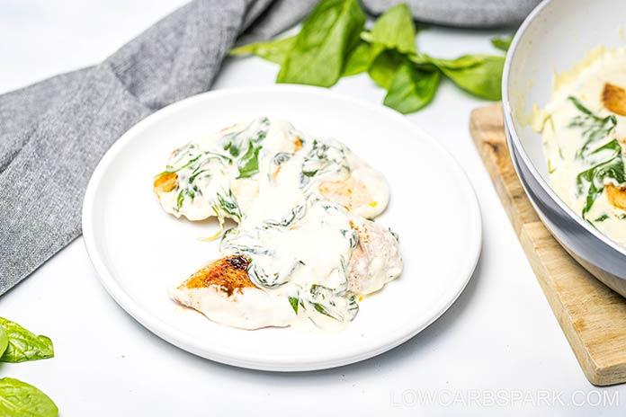 easy keto low carb chicken florentine