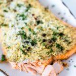 cream cheese crust baked salmon