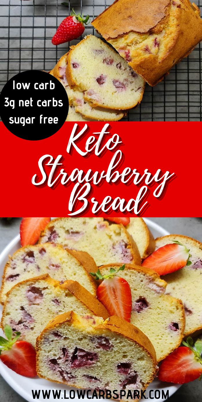 Perfect Keto Strawberry Bread - Just 3g net carbs!