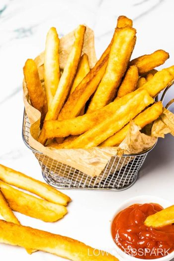 Best Ever Crispy Keto French Fries – Only 3g net carbs