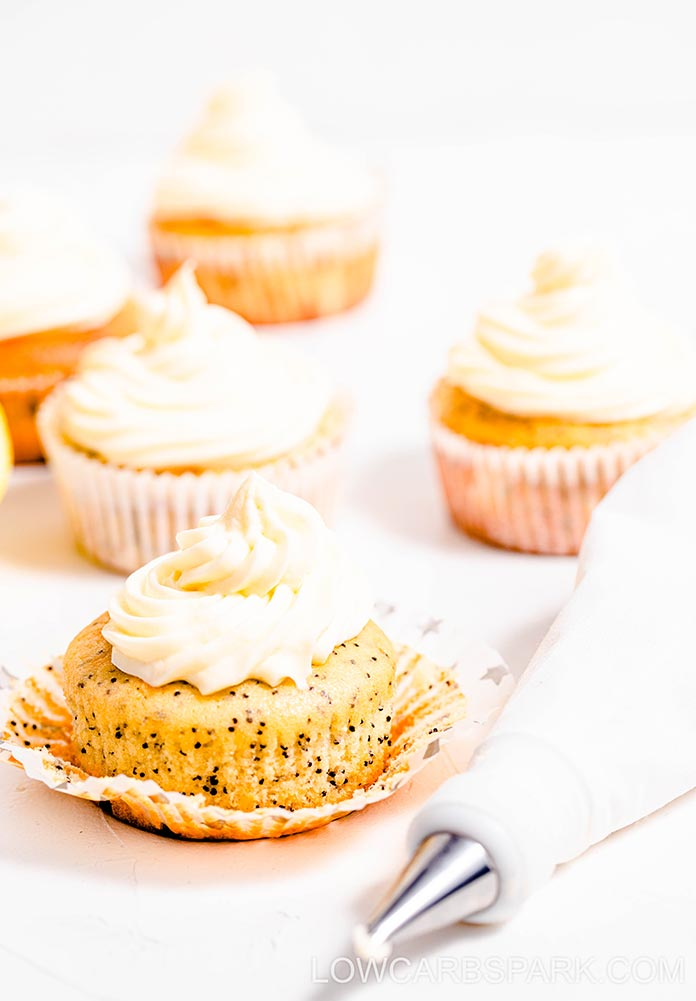 keto muffins with lemon and poppy seeds
