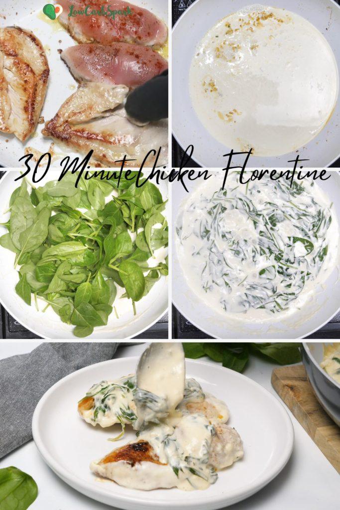step by step chicken florentine recipe