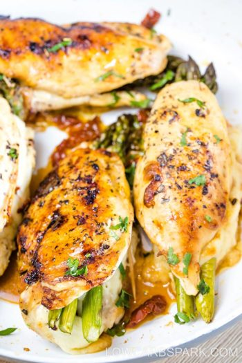 The Best Asparagus Stuffed Chicken Breast