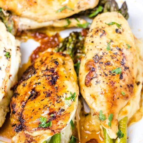 asparagus stuffed mozzarella chicken recipe