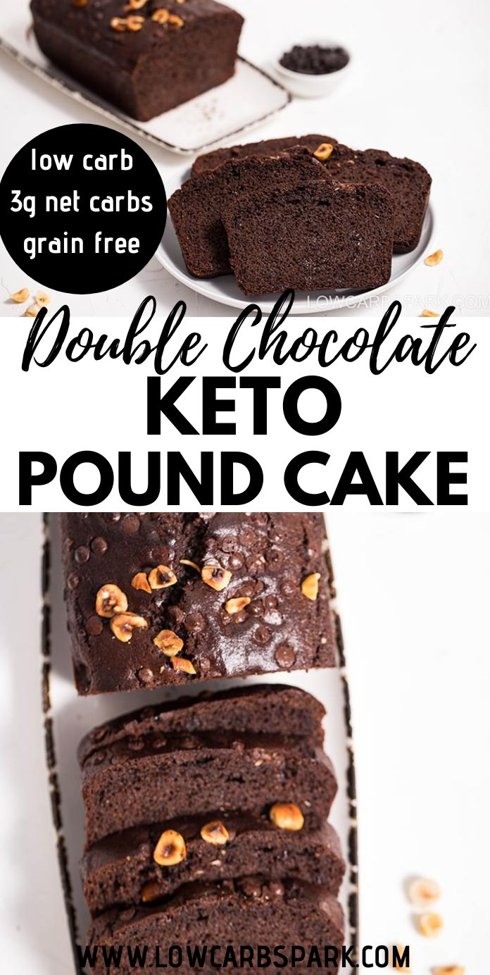 Super Moist Double Chocolate Keto Pound Cake