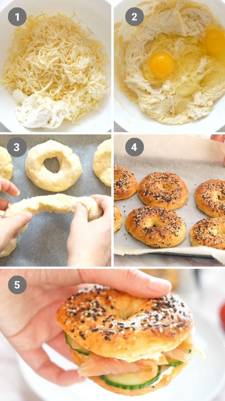 how to make easy keto bagels with fathead dough