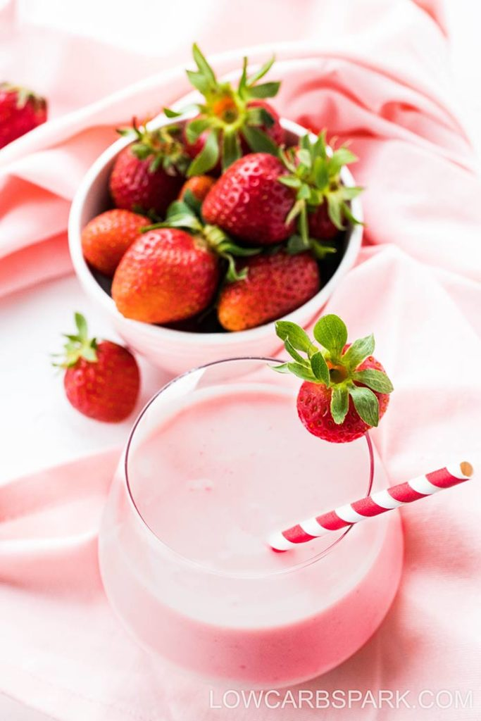 delicious keto smoothie with strawberries