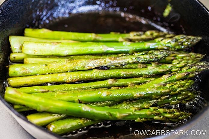 easy pan fried asparagus