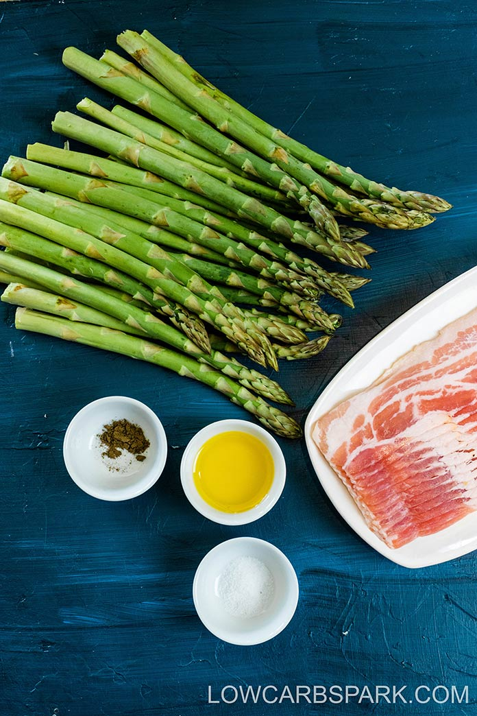 ingredients for bacon wrapped asparagus