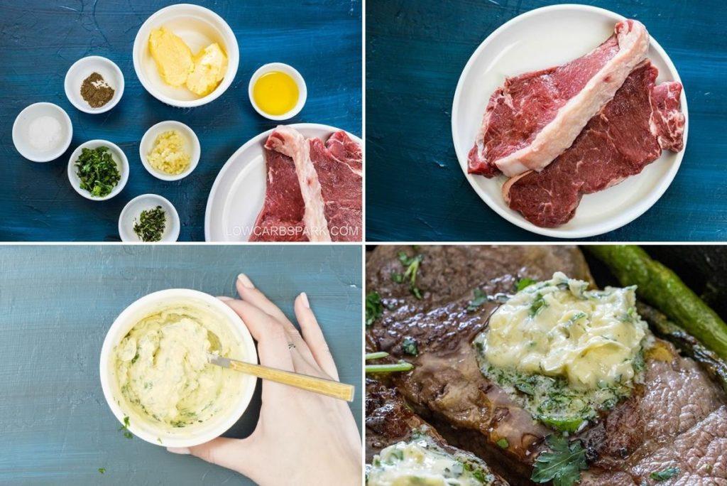 ingredients for garlic herb butter
