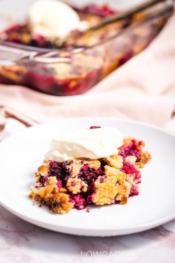 Mouthwatering Berry Keto Dump Cake