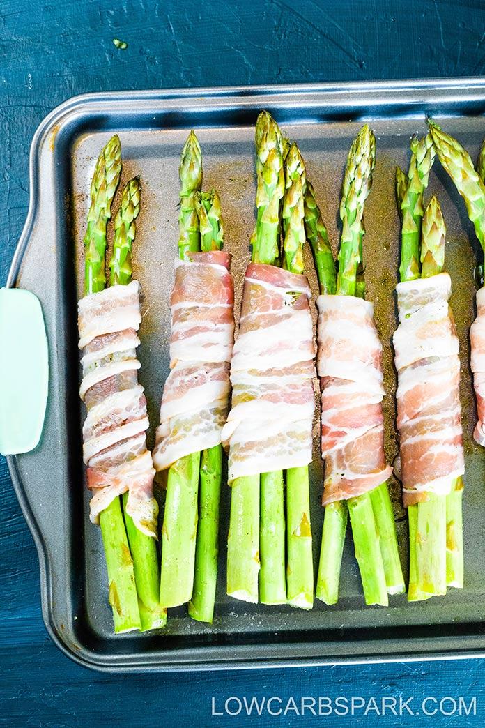 wrap asparagus in bacon