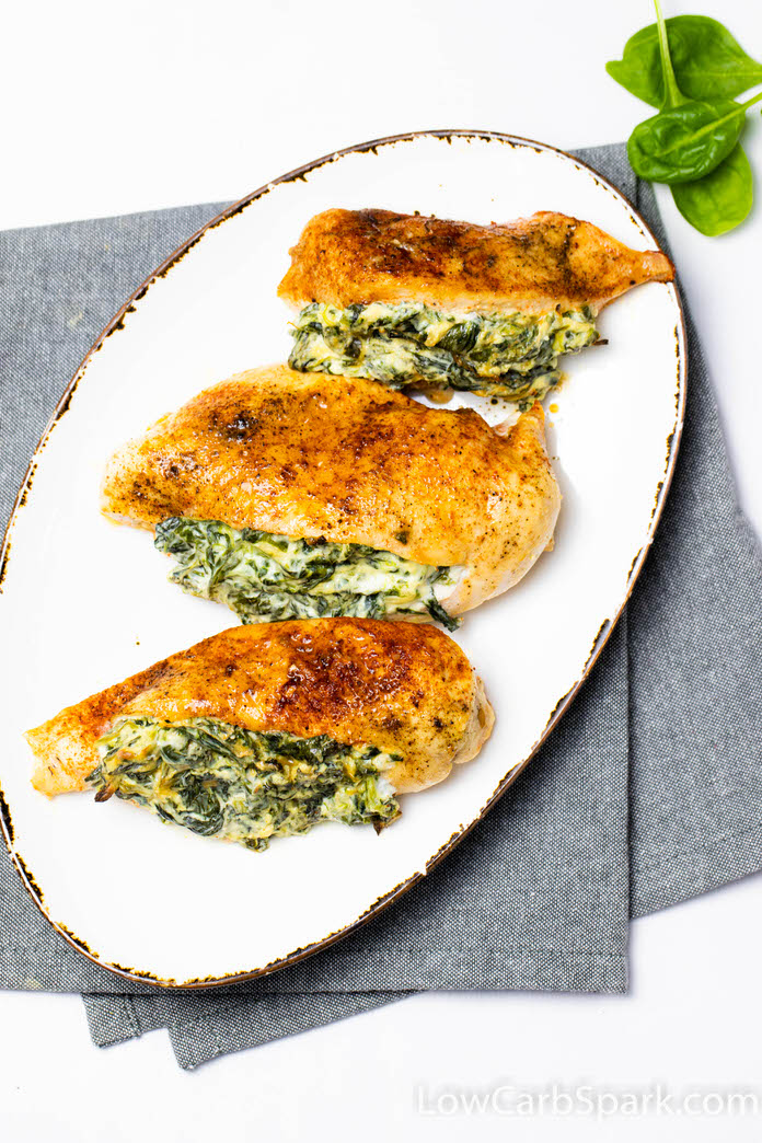 best stuffed chicken with cream cheese and spinach